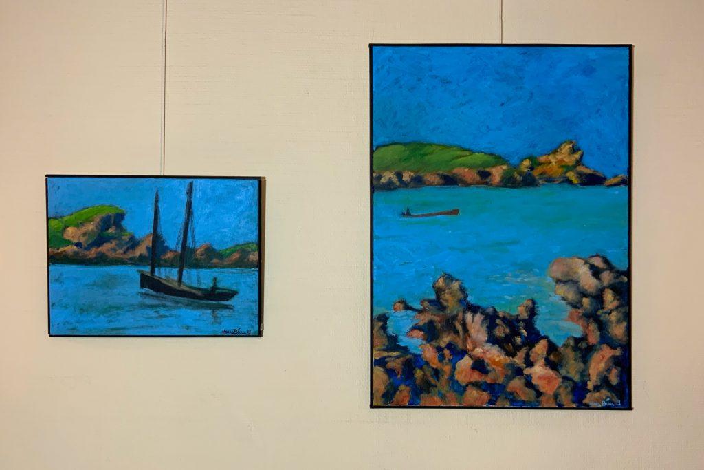 Hans Binns Bretagne ist blau. Azurblau.